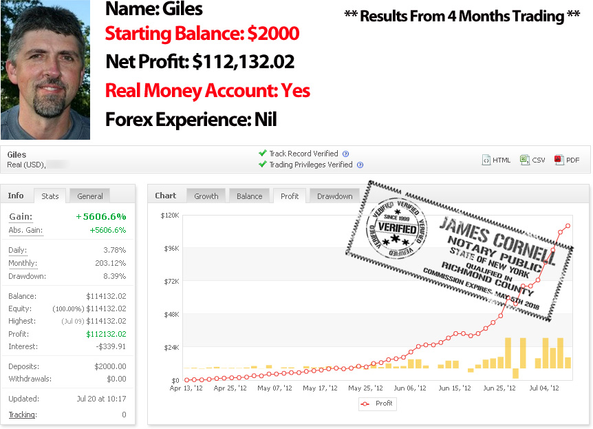 Daily forex income